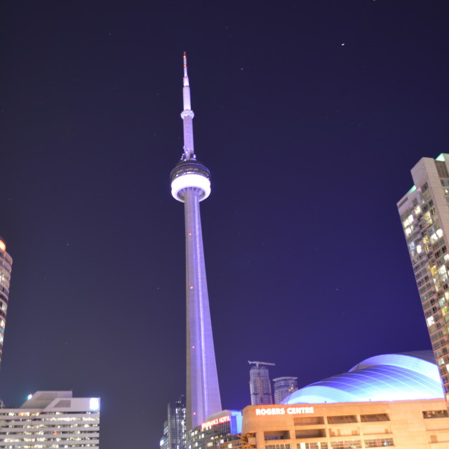 """Toronto - Glowing"" stock image"