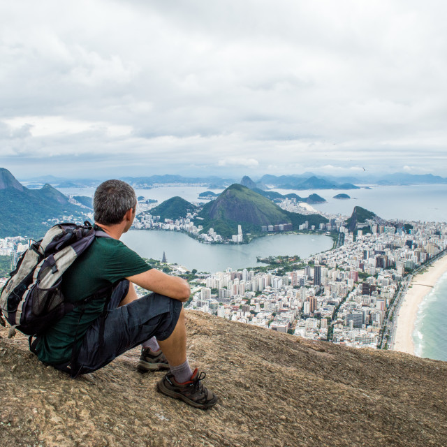 """View of Ipanema beach"" stock image"