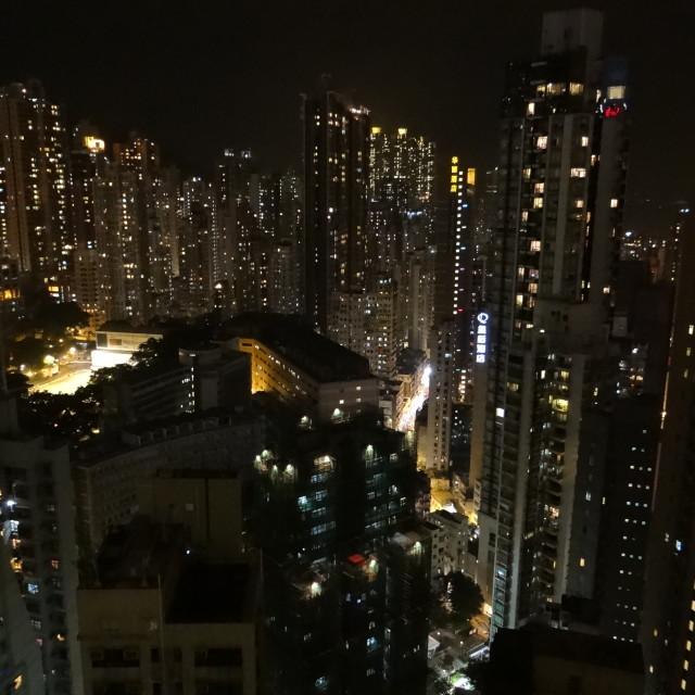 """""""City Lights of Hong Kong"""" stock image"""
