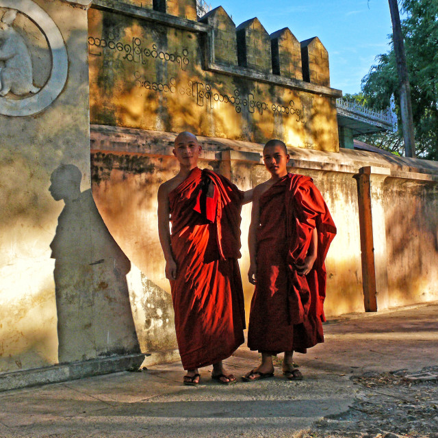 """NYAUNGSHWE MONKS"" stock image"