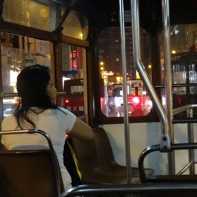 """""""Hong Kong trolley"""" stock image"""
