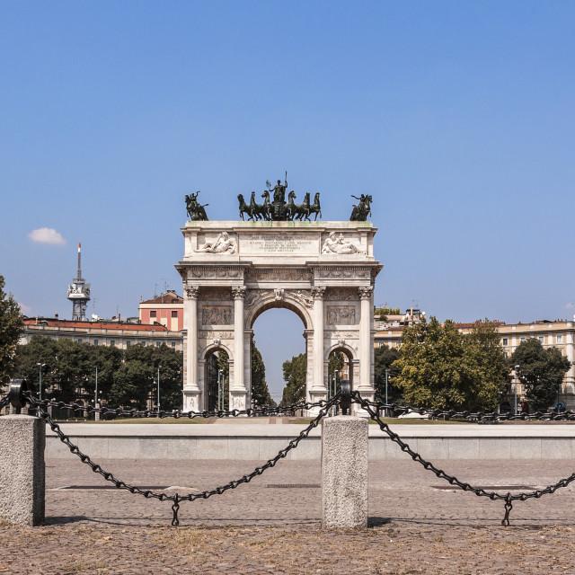 """Arco della Pace, Milan"" stock image"