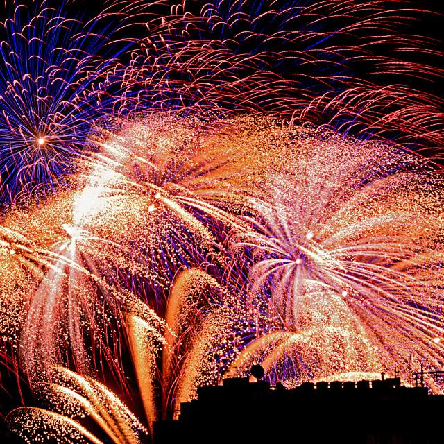 """Malta Fireworks"" stock image"