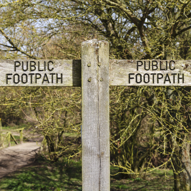 """""""Public footpath sign 3"""" stock image"""