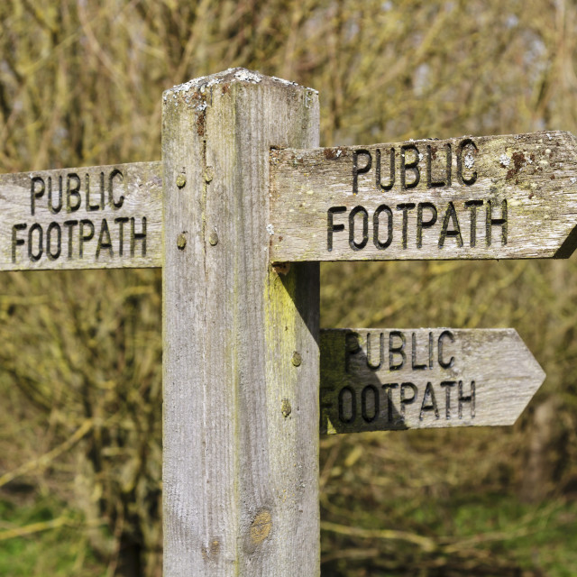 """""""Public footpath sign 2"""" stock image"""
