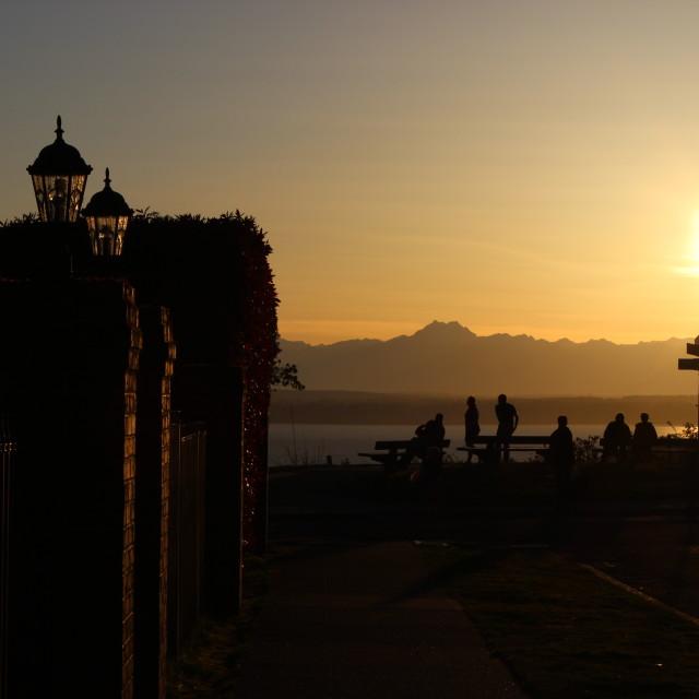"""Sunset & Tranquility"" stock image"
