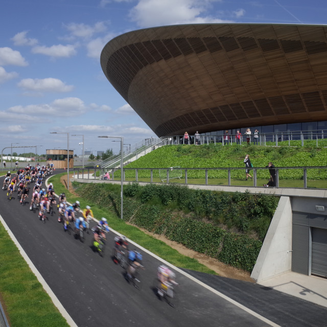 """Lee Valley Velopark and Olympic Velodrome"" stock image"
