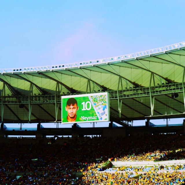 """Neymar Maracana"" stock image"