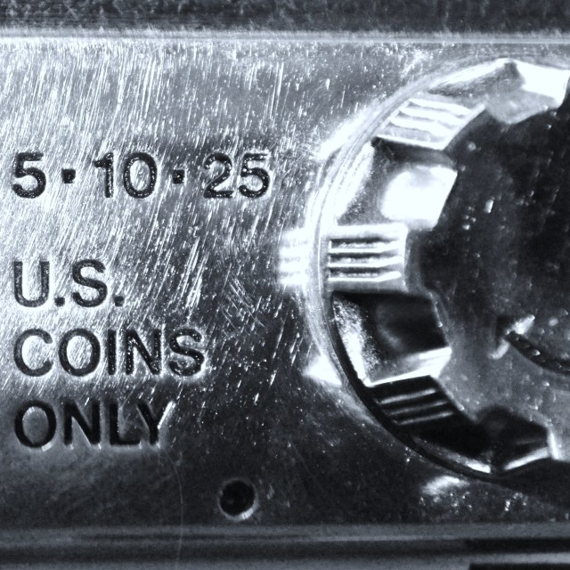 """US Coins Only"" stock image"