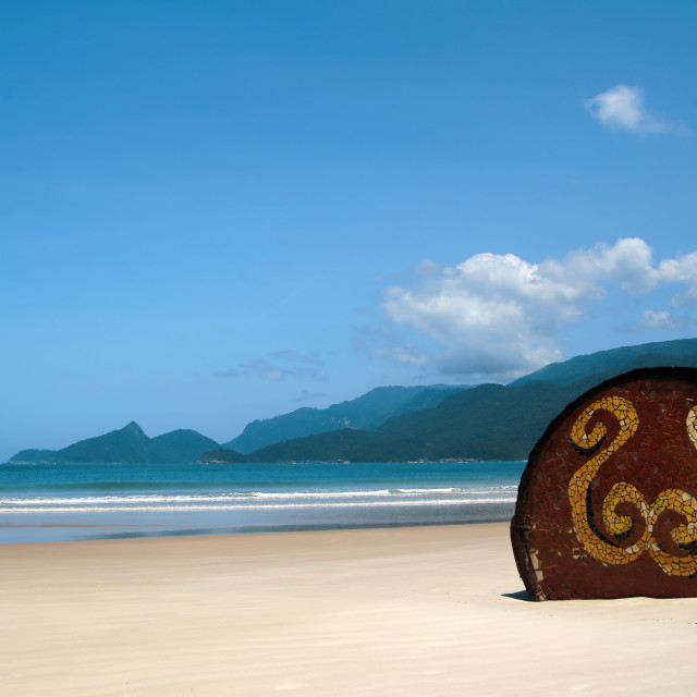 """Beach at Ilha Grande"" stock image"