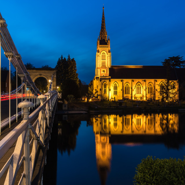 """All Saints Church, Marlow"" stock image"