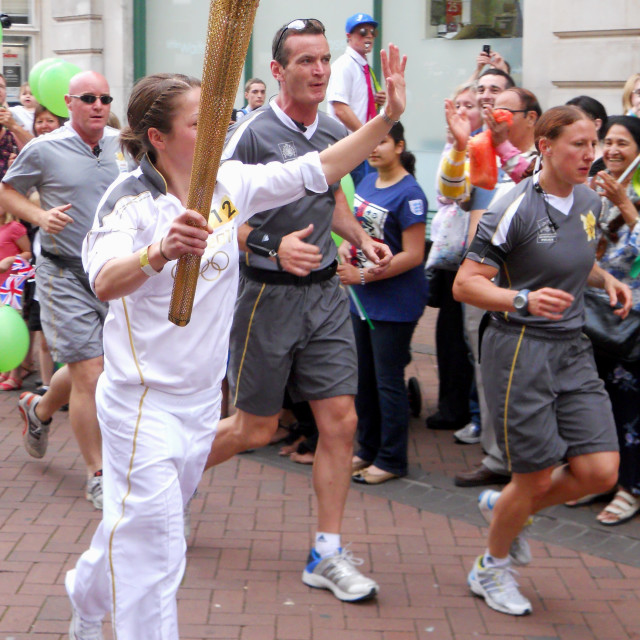"""""""London 2012 Olympic Torch Relay"""" stock image"""
