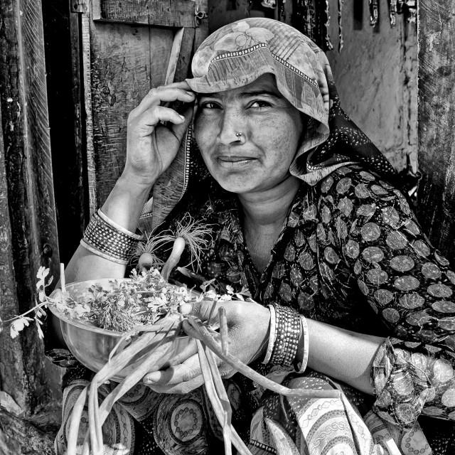 """""""GOOJARBALAI WOMAN"""" stock image"""