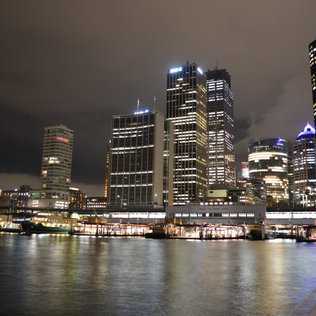 """Sydney at Night"" stock image"