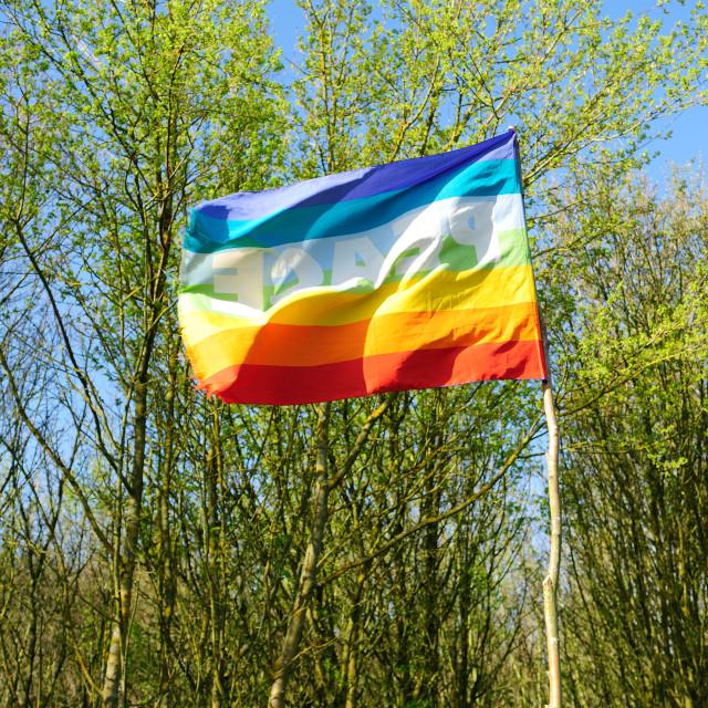 """Rainbow Flag ."" stock image"