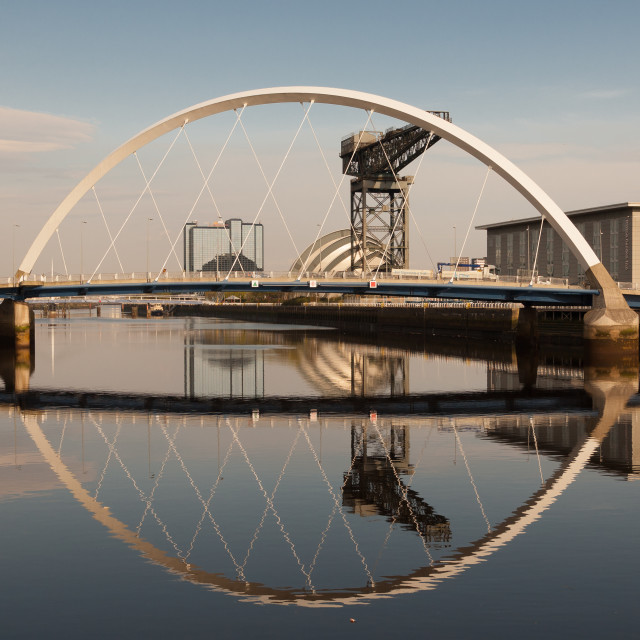 """Glasgow Clyde Arc bridge"" stock image"