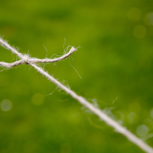 """A Frayed Knot"" stock image"