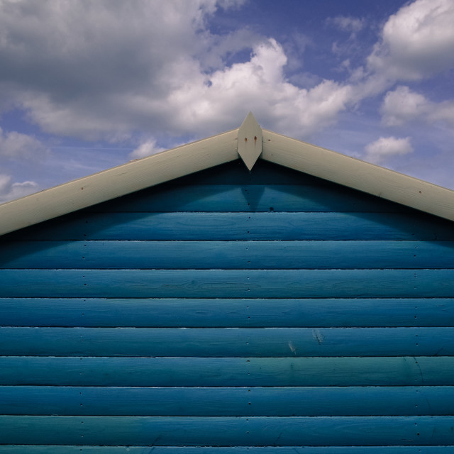 """Beach hut and sky"" stock image"