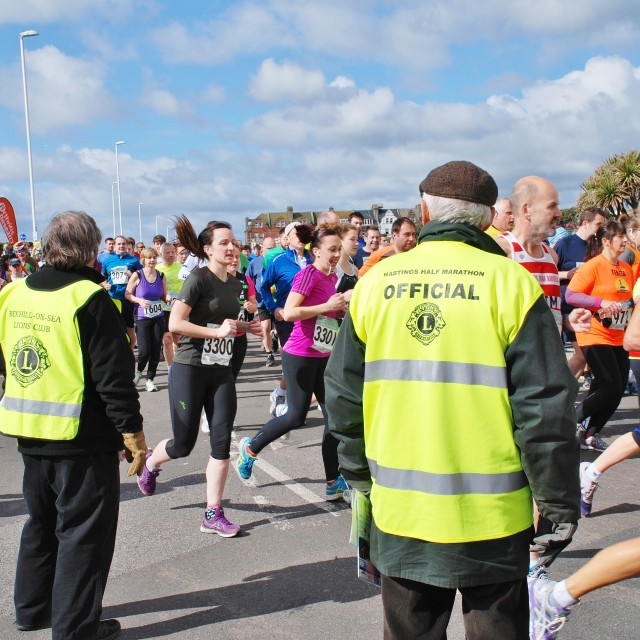 """Hastings Half Marathon race"" stock image"
