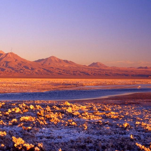 """Atacama desert Chile at Sunset."" stock image"