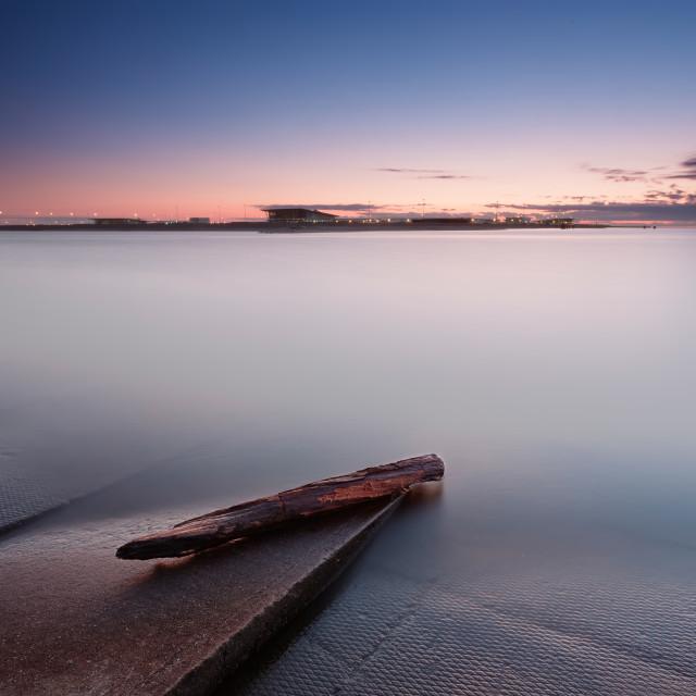 """Sunset on gulf of Finland"" stock image"
