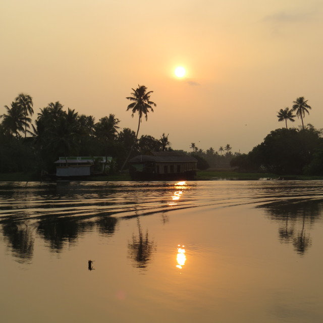"""Sunrise in Kerala"" stock image"