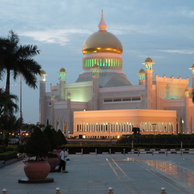 """Omar Ali Saifuddien Mosque in Brunei"" stock image"