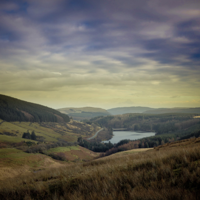 """""""Brecon Beacons Vista"""" stock image"""