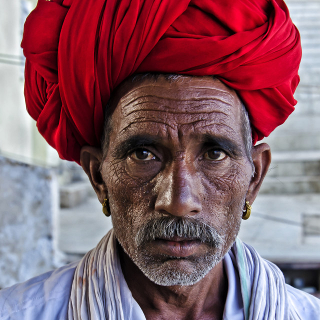 """""""THE RED TURBAN"""" stock image"""