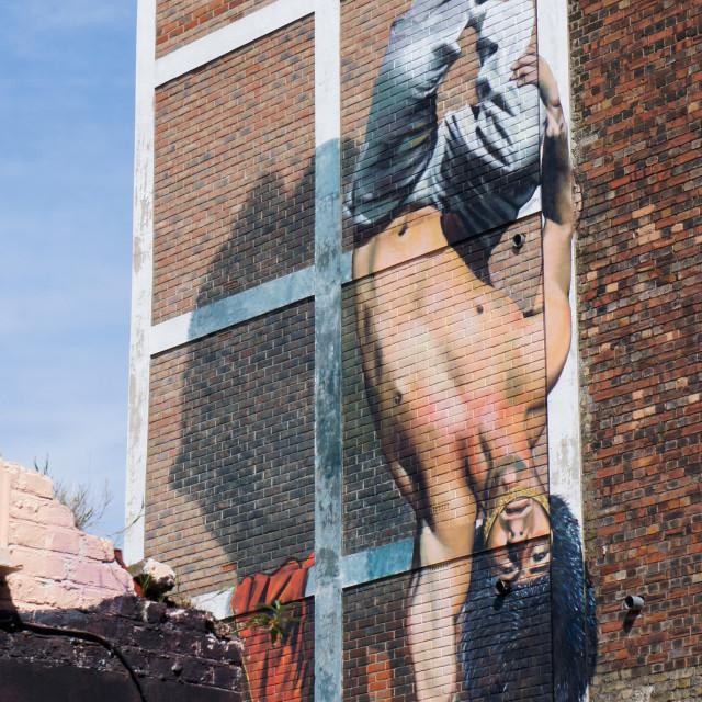 """""""Street art handstand"""" stock image"""