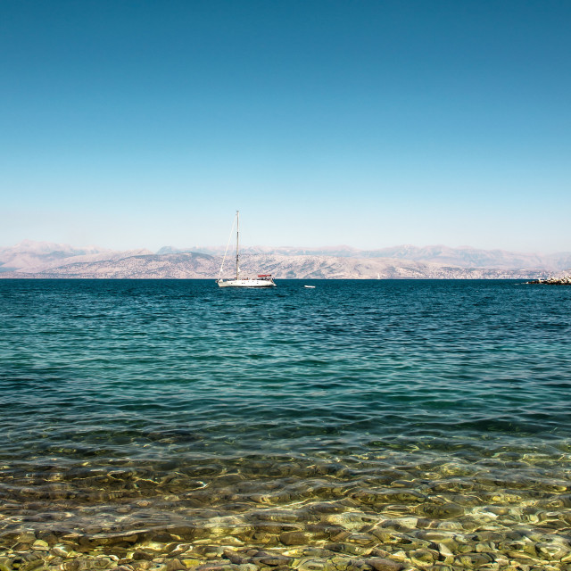 """Corfu Beach"" stock image"