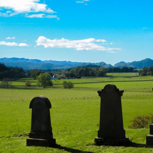 """Three Graves"" stock image"