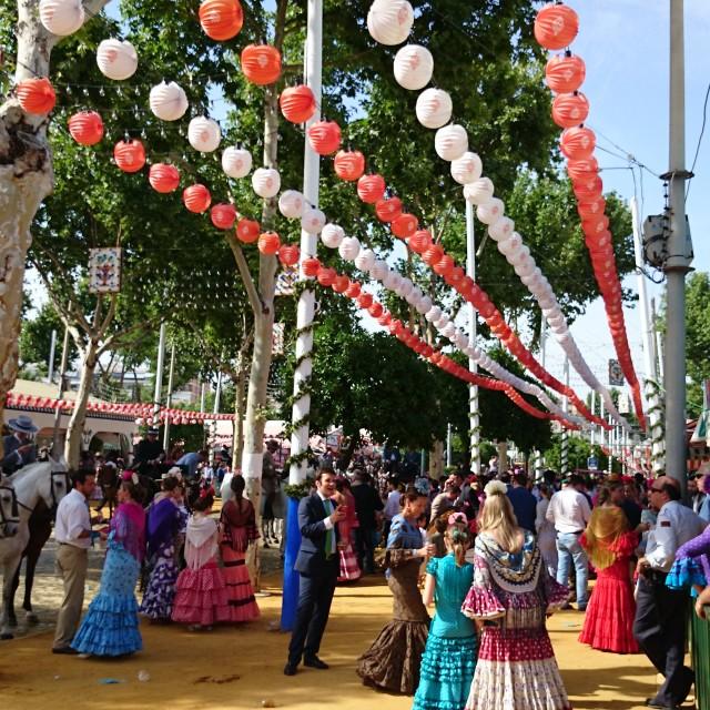 """""""Colours of Spain, Feria de Abril"""" stock image"""