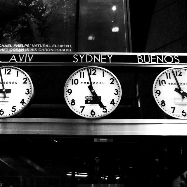 """Tourneau Clocks"" stock image"