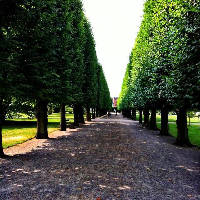 """""""Rosenborg Castle Gardens"""" stock image"""