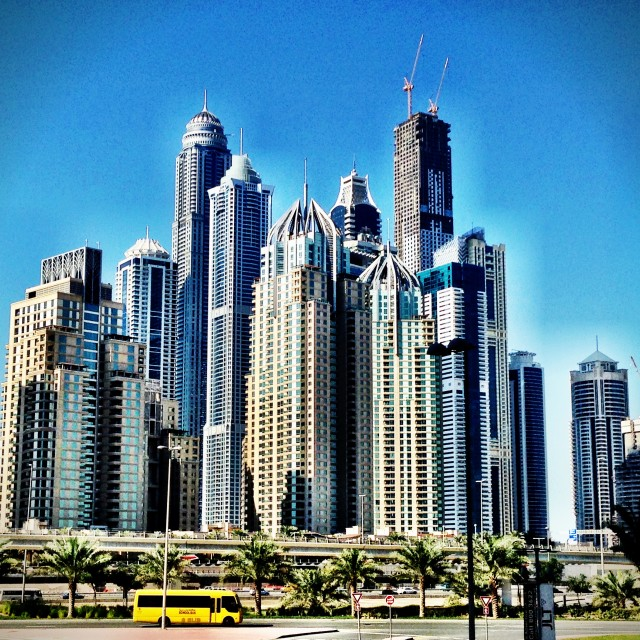 """""""Dubai Marina skyline"""" stock image"""