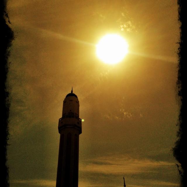"""Mosque of Doha"" stock image"