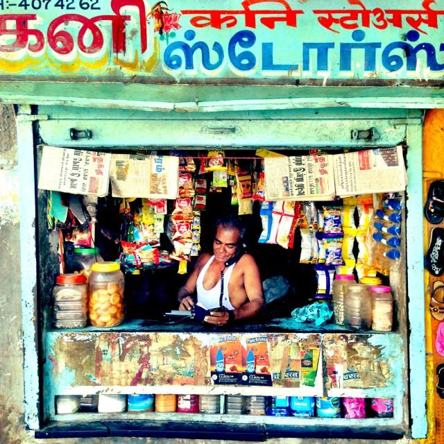 """Indian shop"" stock image"