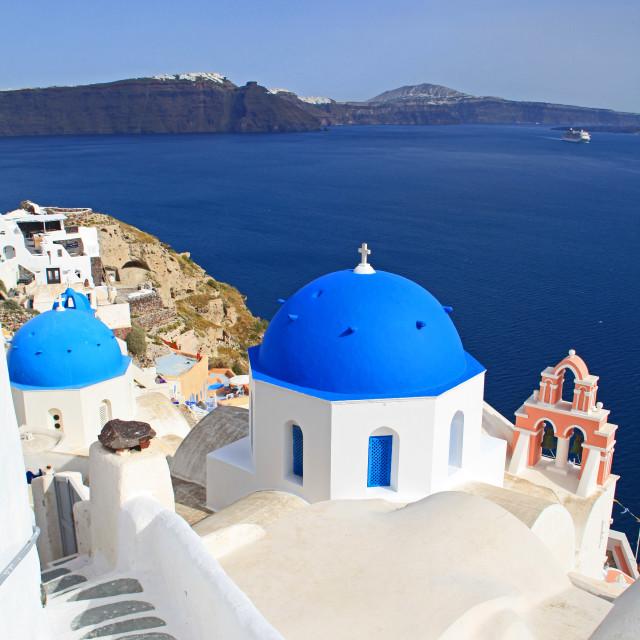 """""""Santorini Splendour"""" stock image"""