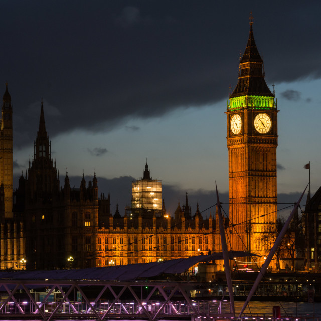 """Palace of Westminster and Big Ben - dusk"" stock image"