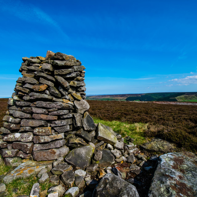"""North Yorkshire Stone Stack (wide)"" stock image"