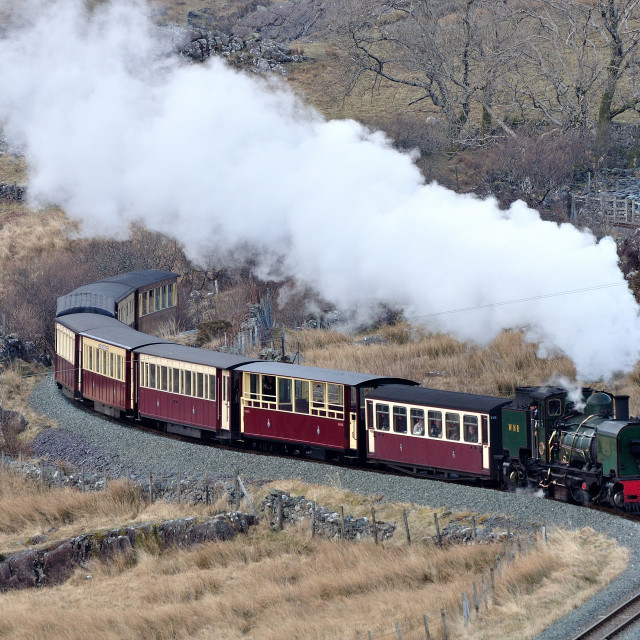 """The Ffestiniog & Welsh Highland Railway"" stock image"