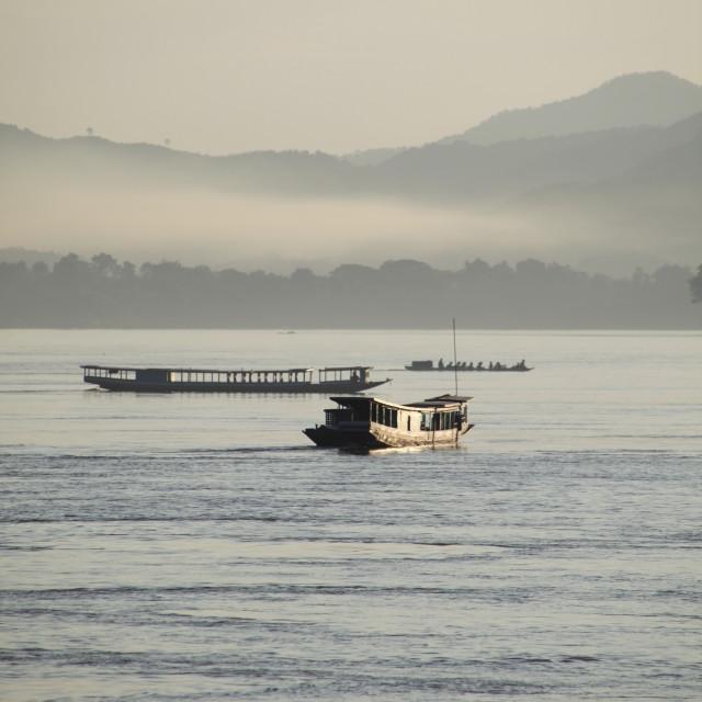 """'Mekong Mist'"" stock image"