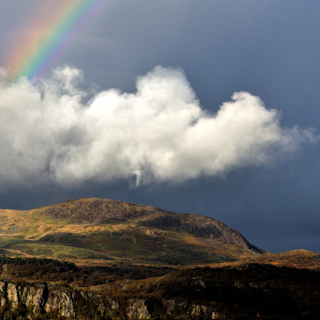 """Snowdonia Rainbow"" stock image"