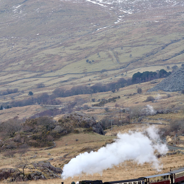 """The Ffestiniog & Welsh Highland Railways"" stock image"