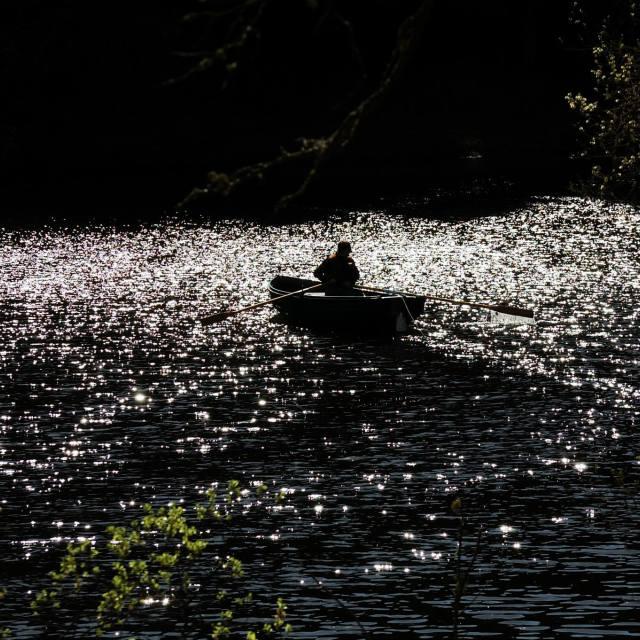 """Sparkling Loch"" stock image"