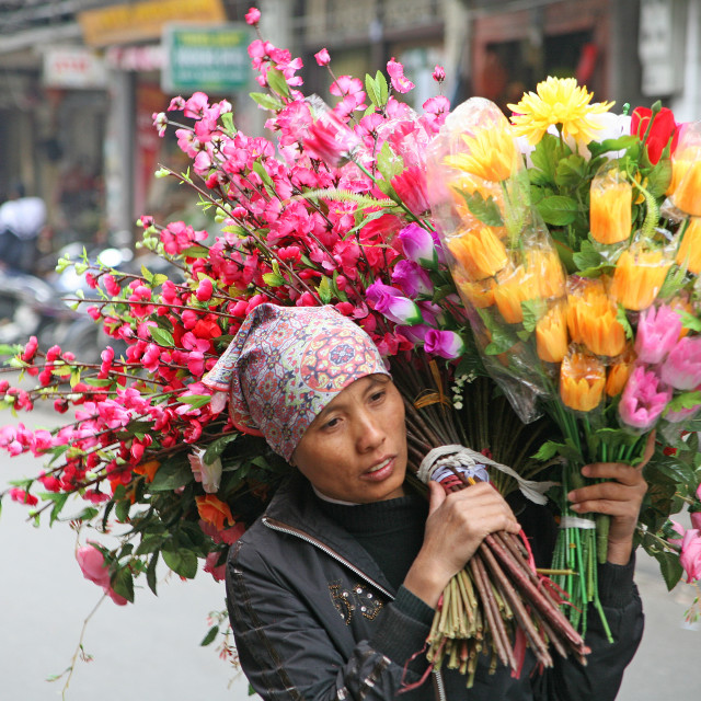 """Flower Seller"" stock image"