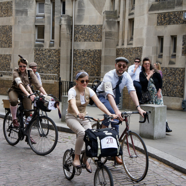 """The Tweed Run"" stock image"