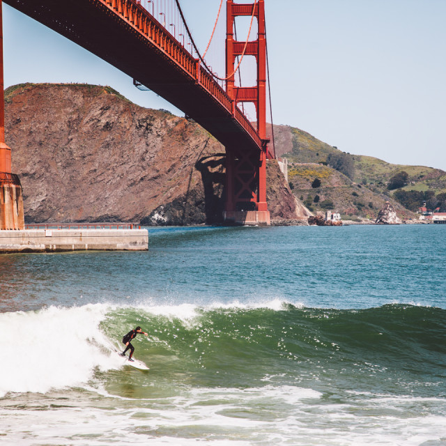 """Surf San Francisco"" stock image"
