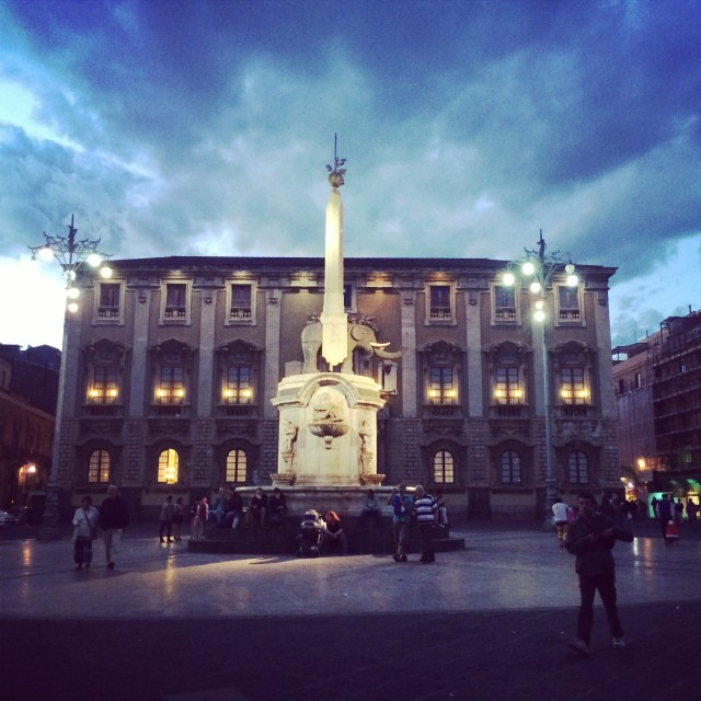 """""""The center of Catania"""" stock image"""